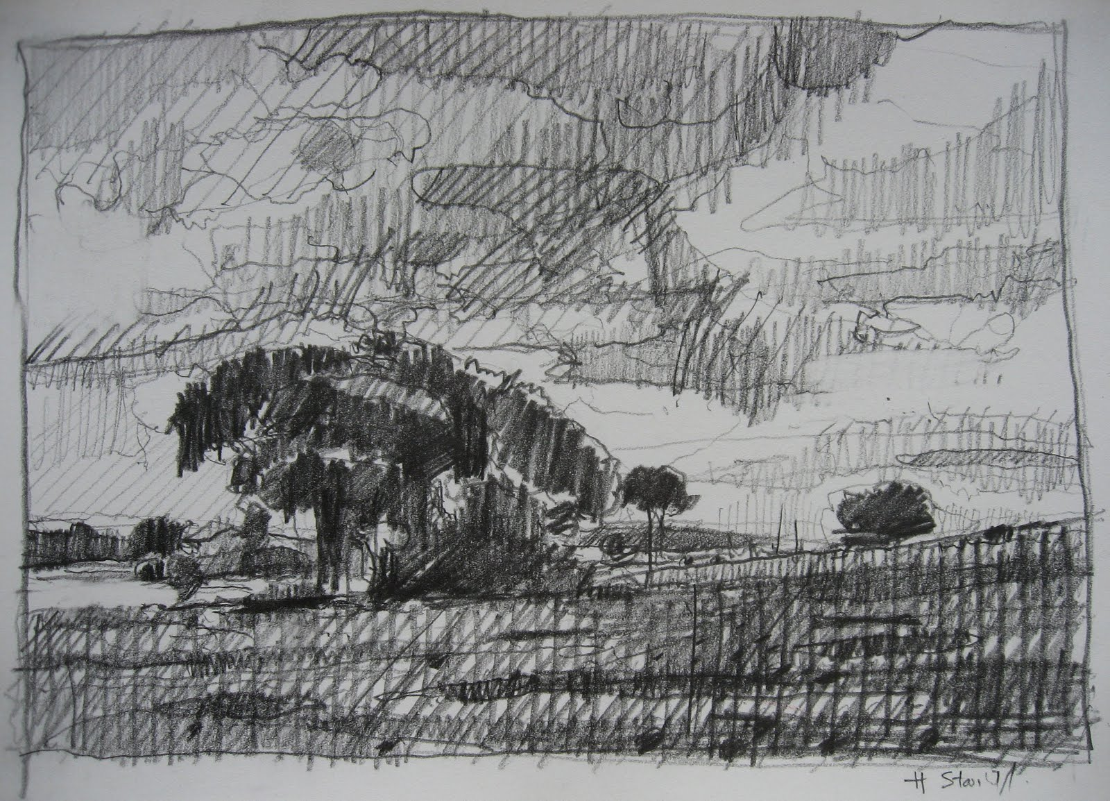 Contemporary landscape drawings drawing owu for What is landscape drawing